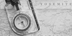 exploring map compass
